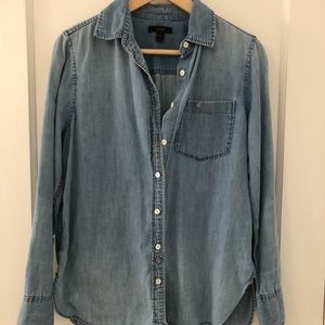 J. Crew Chambray Button Down Top